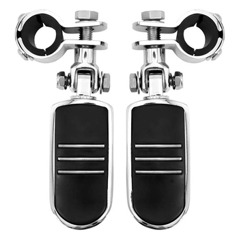 Motorcycle Foot Pegs Frame Mount for 1 inch to 4/3 inch Engine Guards Adjustable for Road King Street Glide Electra for Honda Su