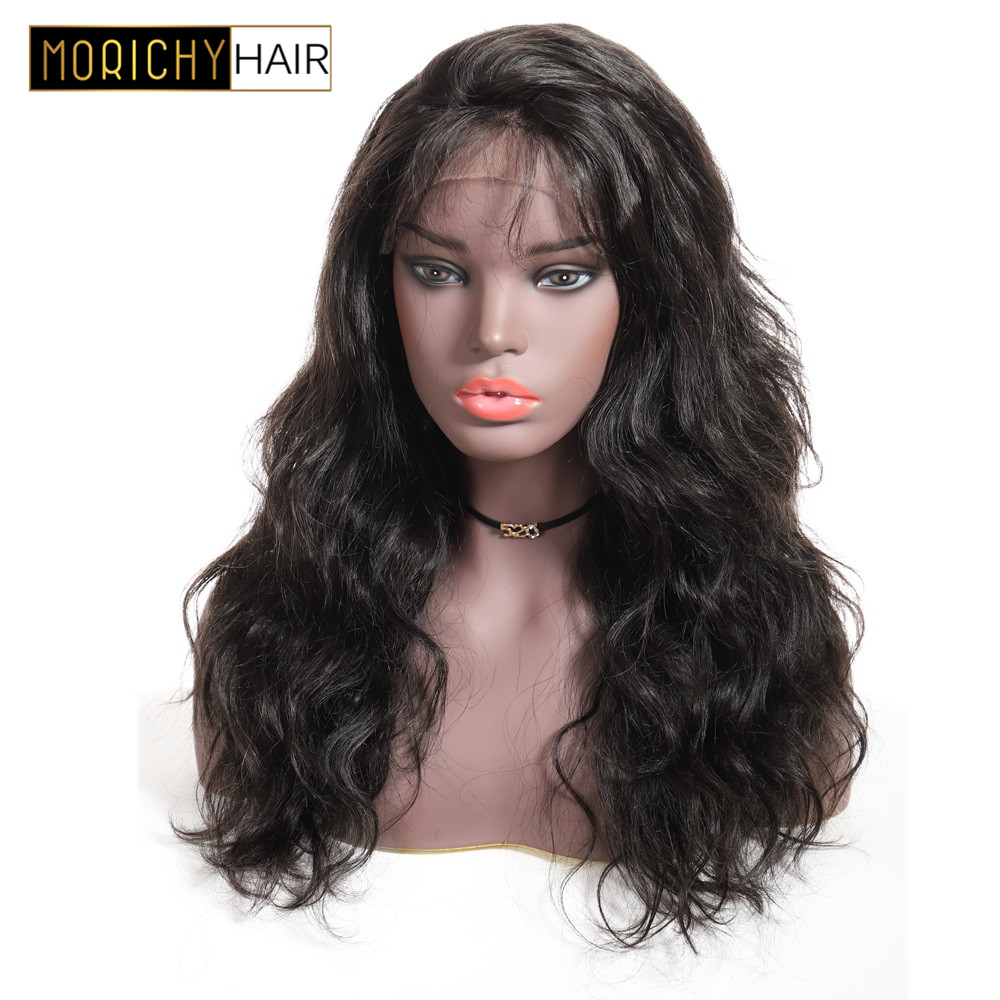 Morichy Body Wave 13x4 Lace Frontal Human Hair Wigs Pre Plucked Hairline With Baby Hair Brazilian Lace Frontal Human Hair Wigs