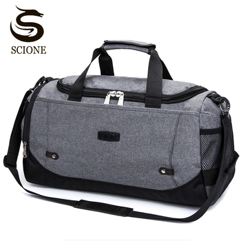 Scione Men Travel Bag Large Capacity Hand Luggage Duffle Bags Nylon Weekend Women Multifunctional