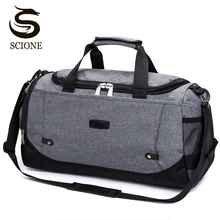 Scione bolsa de viagem grande capacidade, mala de viagem masculina e feminina multifuncional de nylon, multifuncional