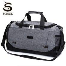 Scione hommes sac de voyage grande capacité bagage à main voyage sacs de sport en Nylon week end sacs femmes sacs de voyage multifonctions