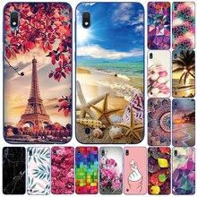 For Samsung Galaxy A10 Case Soft Silicone Flower Phone Case For Samsung Galaxy A10 A