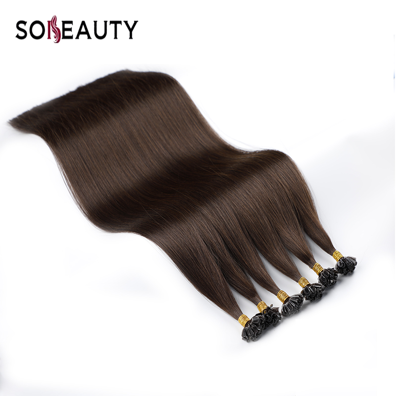 Remy Hair Extensions U Nail Tip Human Hair Extensions 100strand/Pack Cuticle Aligned Hair Keratin Hair Double Drawn Hair