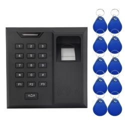 System kontroli dostępu z czytnikiem linii papilarnych karta zbliżeniowa czytnik drzwi antywłamaniowe dzwonek do kontroler dostępu do drzwi maszyna do na