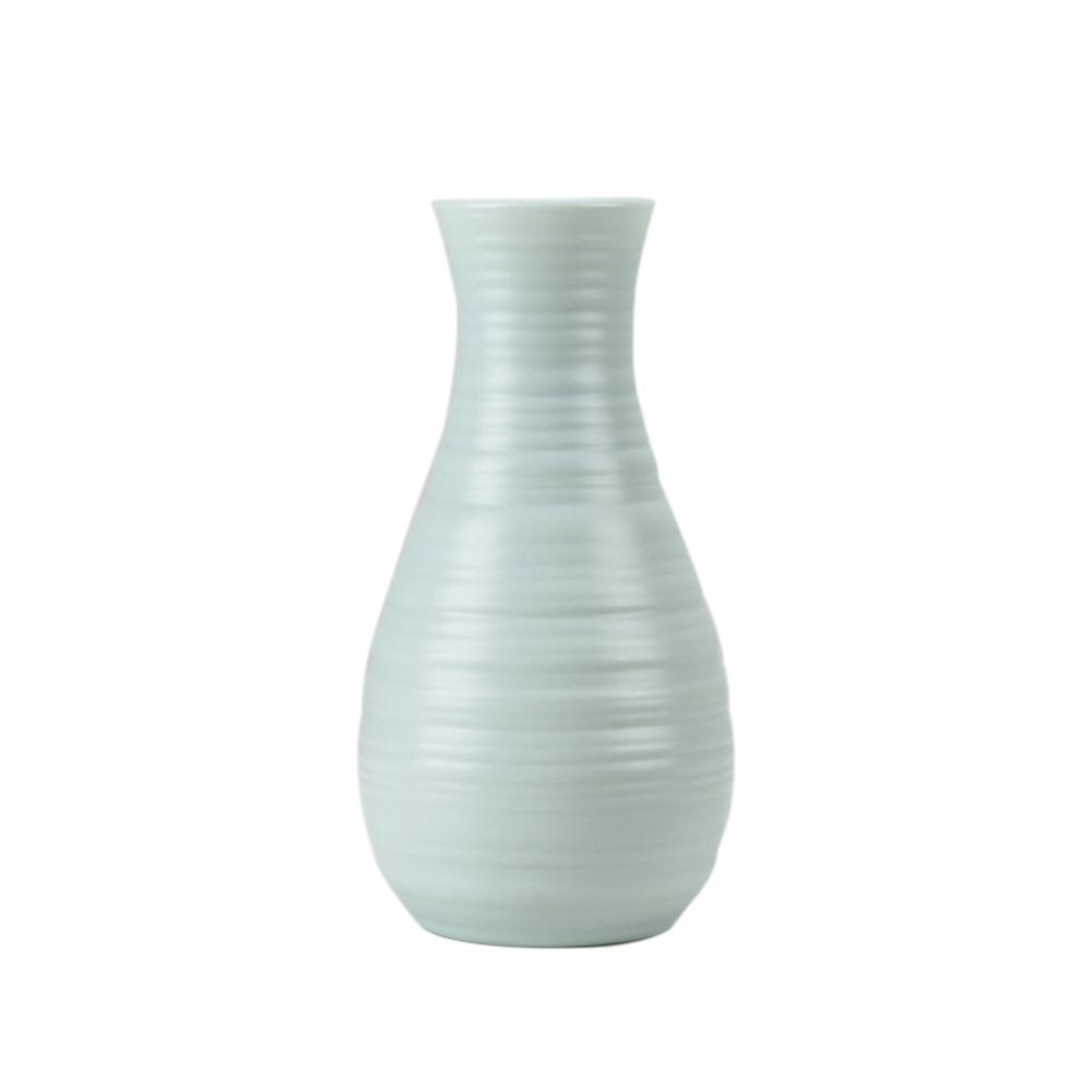 Скандинавском стиле Цветочная корзина ваза для цветов и рисунком в виде птичек-оригами Пластик ваза мини бутылка имитация Керамика украшение цветочный горшок для дома - Цвет: RL1264D