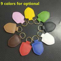 Leather Keyring Car Keychain Key Buckle Fob For Porsche Macan S Turbo Cayenne Panamera S 911 918 718 GT2 Shield Hanging Buckle
