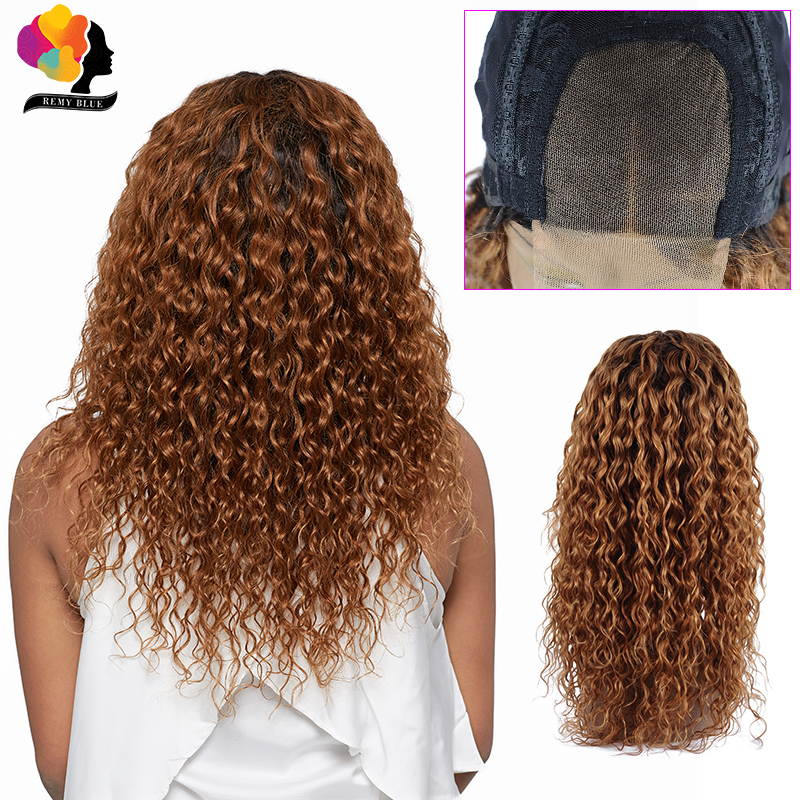 T1B 30 Blonde 4*4 Lace Closure Wig Brazilian Water Wave Human Hair Wigs For Black Women 180 Density Lace Closure Remy Hair Wigs