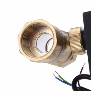 Image 5 - DN15 / DN20 / DN25 motorized electric 2 way brass ball valve DN20 AC 220V 2 way 3 wire  with actuator cable for gas water oil