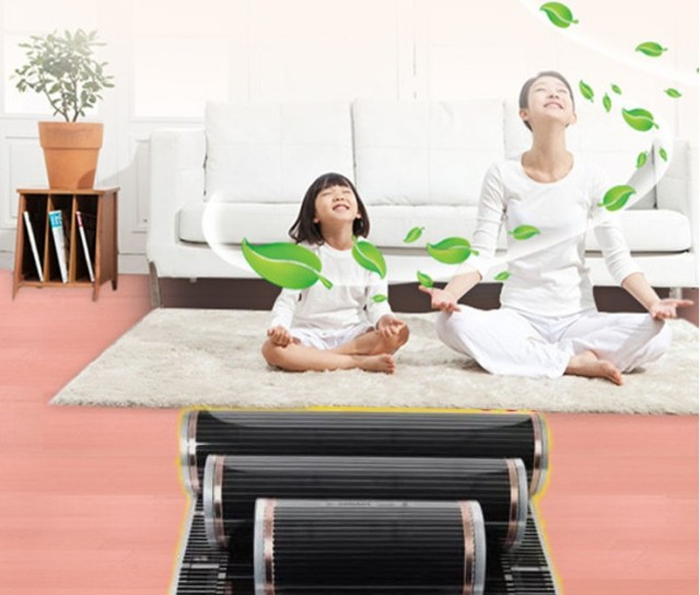 All Sizes 220V 50cm Width Healthy Floor Heating Infrared Underfloor Heating Carbon Film Heater Electric Floor Warming Mat 220W 3