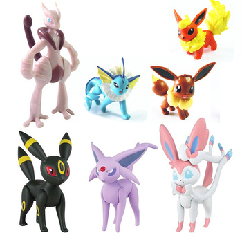 TAKARA TOMY Genuine Pokemon Vaporeon Eevee Jolteon Flareon Action Figure Joint Movable Doll Toy Collections for Children altman soft glue ultraman monster superman toy king gogira action figure collection model children s doll movement joint movable