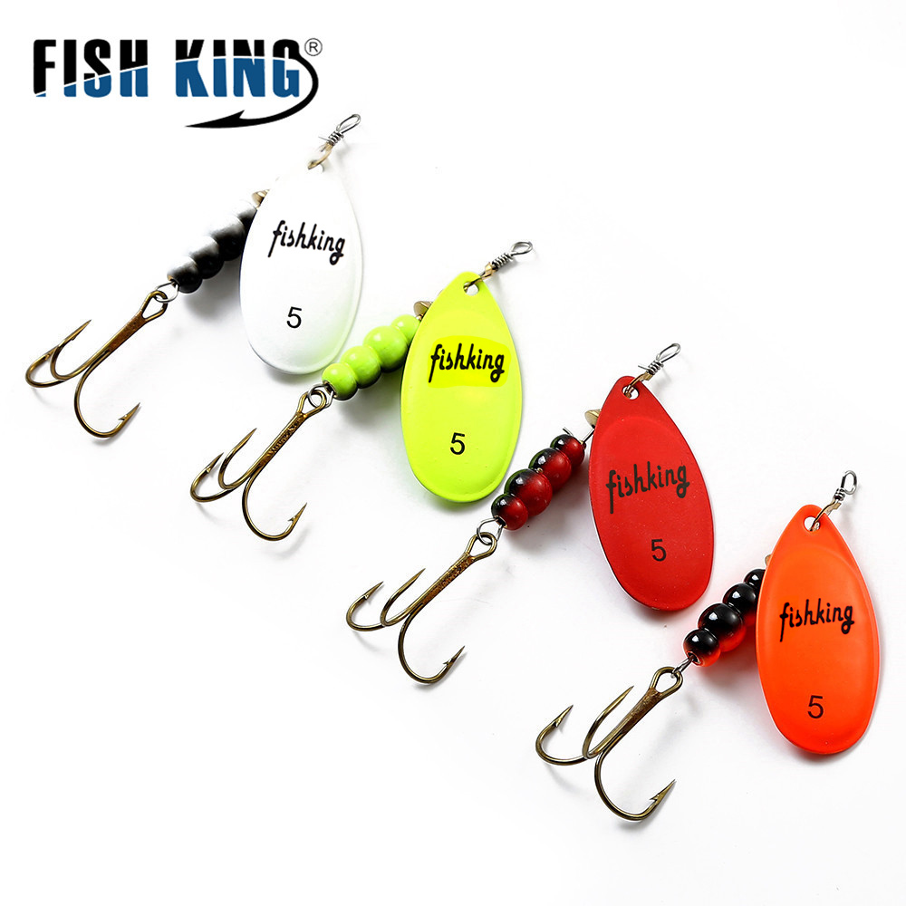 FISH KING Spinner Bait Spoon Lures  5