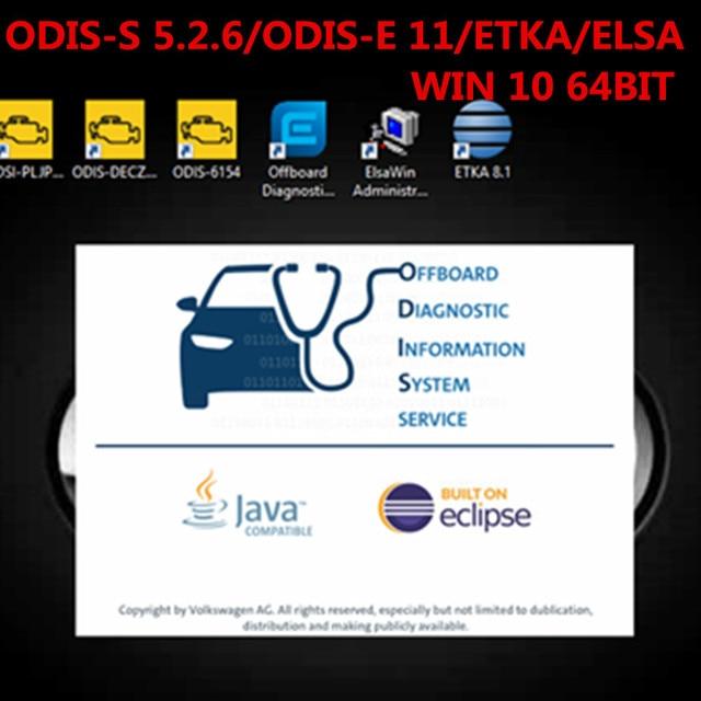 2020.06 Vas 5054A Odis 5.2.6 Software with Engineering 11/ETKA /Elawin VAS 6154 500GB SSD for AUDI/V W GEKO online coding login