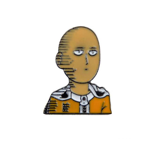 Anime One Punch Man Brooch and Enamel Pin Women Men Children Backpack Bag Collar Shirt Lapel Pin Badge Jewelry