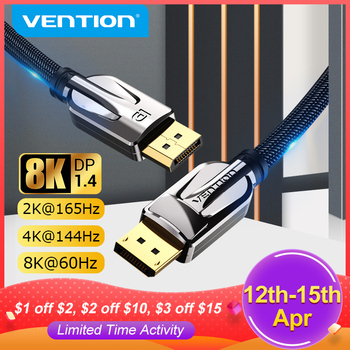Vention DisplayPort 1.4 Cable 8K 60Hz 4K HDR  Display Port Audio Cable for Video PC Laptop TV Display Port 1.4 DP Cable 1.2