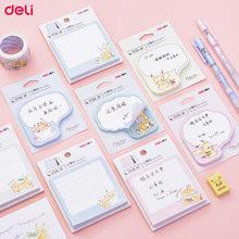 Deli 1 pacote pokemon adesivos bonito dos desenhos animados pikachu memorando papel estudante papelaria nota auto-adesivo mini almofada de memorando presente das meninas