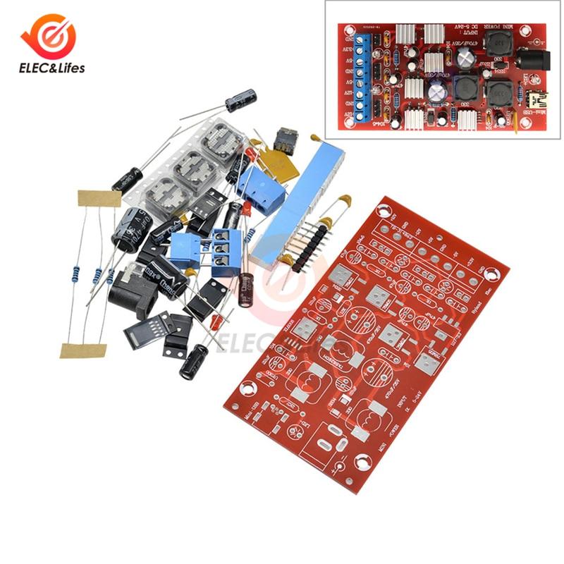 Mini USB 5-24 В до ± 12 В ± 5 В + 3 в двойной модуль питания DIY Kit 300 мА повышающий одноповоротный линейный регулятор Преобразователь мощности модуль