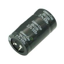 Super bright Capacitor 2.7 V 500F 35*60 มม.ตัวเก็บประจุผ่านรูทั่วไป 2.7V500Fตัวเก็บประจุ 2 ฟุต