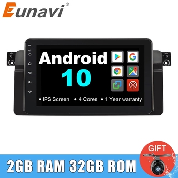 Eunavi Android 10 Car multimedia Radio Player for BMW E46 M3 318i 320i 325i Navigation GPS 1 din autoradio Stereo RDS IPS NO DVD image