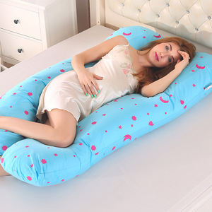 Image 3 - Sleeping Support Pillow For Pregnant Women Body PW12 100% Cotton Rabbit Print U Shape Maternity Pillows Pregnancy Side Sleepers