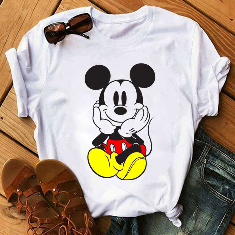 NEW Women's Brand Clothing Summer T Shirt Women Casual Funny Mouse Tops Tees Short Sleeve O-neck Harajuku Female Ladies T-Shirt