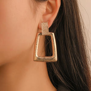 Vintage Earrings Geometric Trend Jewelryb018 Gold-Color Women Fashion Metal for Statement