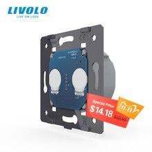 Livolo Eu Standaard, Ac 220 ~ 250V De Basis Van Muur Light Touch Screen Switch, 2Gang 1Way, VL C702