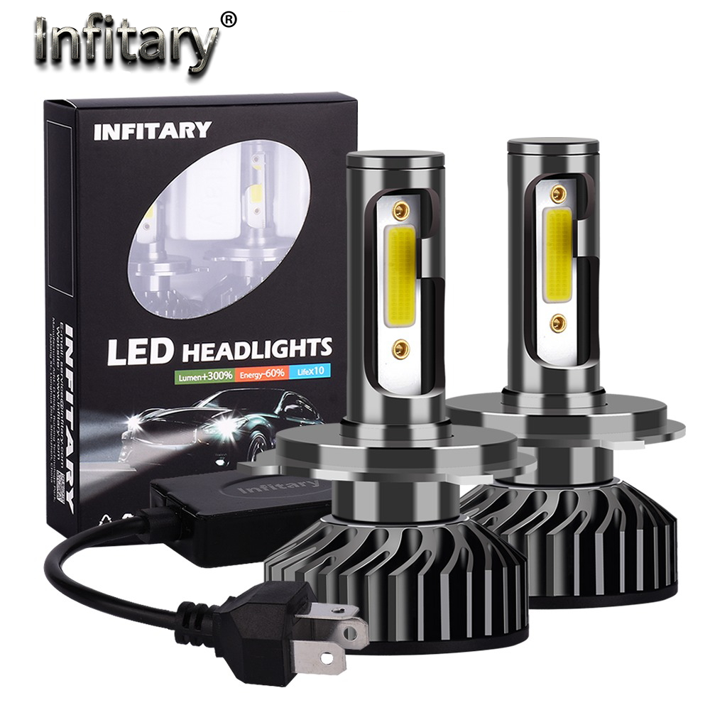 Infitary Headlamp Car-Led-Headlight-Bulbs Fog-Light Auto 10000LM Mini 9007 H3 6500K H4 title=