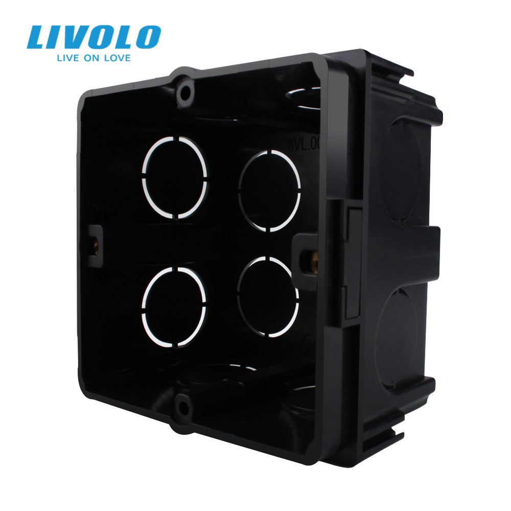 Livolo Free Choose Black Plastic Materials  EU Standard Internal Mount Box for 80mm 80mm Standard Wall Light Switch
