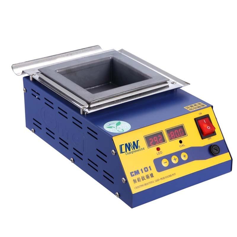 Square High Temperature Lead Free Soldering Pot Titanium Solder Furnace Tin Melting Digital Display 220V 110V CM-101 0-600C 800W
