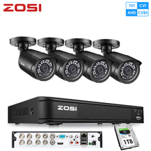 ZOSI 8CH HD-TVI 1080N Video DVR 4x Outdoor Indoor 720P Waterproof 1280TVL High Resolution Security Surveillance Camera System