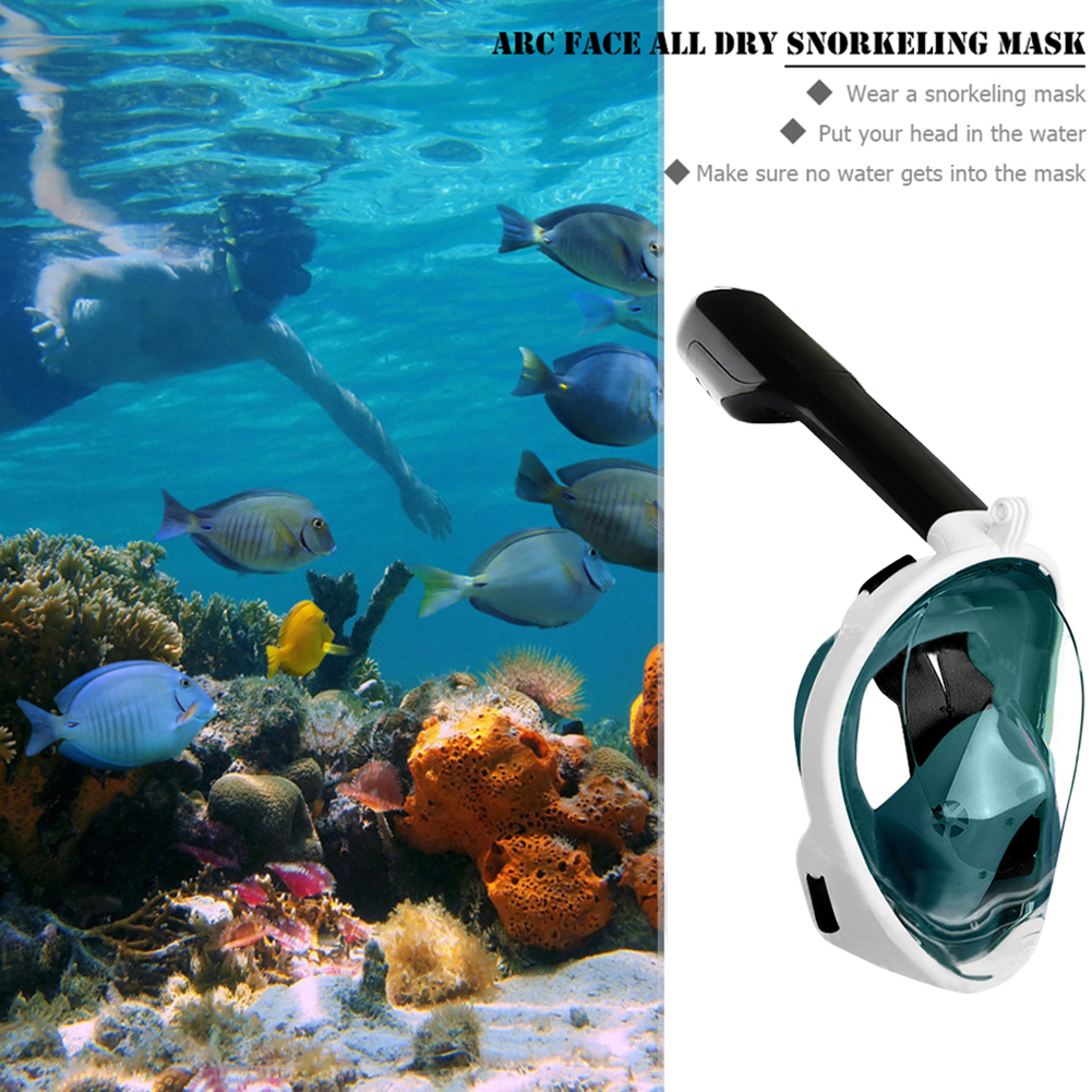 Full Face Scuba Snorkeling Face Mask Respiratory masks Snorkeling Set Safe and waterproof Swimming Equipment(China)