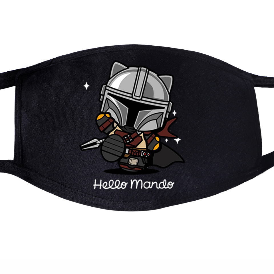 Kawaii The Mandalorian Dustproof Mouth Mask Face Unisex This Is The Way Baby Yoda Reusable Fabric Anti Black Washable Masks