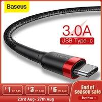 Baseus-Cable USB tipo C para móvil, Cable de carga rápida tipo C para xiaomi mi 9 max3 USB-C, Samsung Galaxy S10 S8 Plus