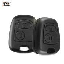 Dandkey 2 botão sem lâmina remoto caso chave do carro escudo fob para citroen c1 c2 c3 pluriel c4 c5 c8 xsara picasso capa