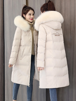 Down padded Girls long section 2020 winter new Women Korean loose cotton jacket coat tide ins