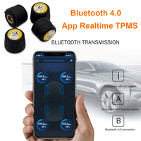 Bluetooth 4.0 Car TPMS APP for IOS Android Real time Tire Pressure Monitoring System 4 External Sensors Auto Tyre Alarm