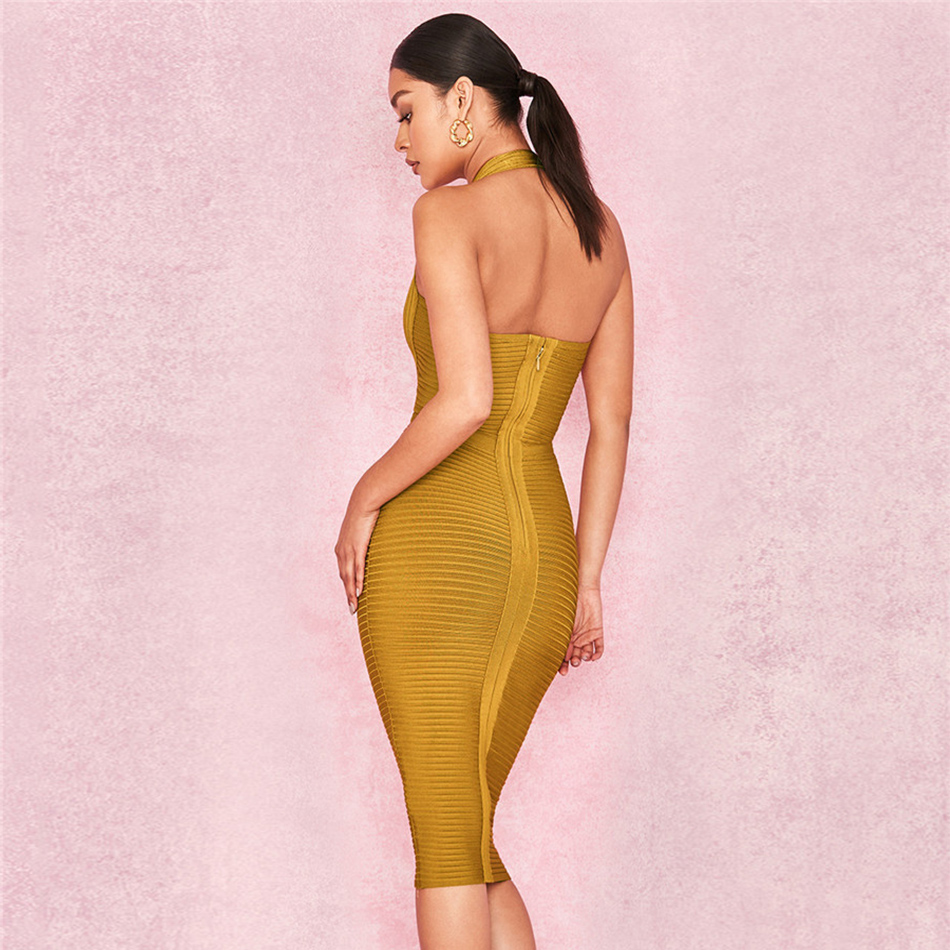 Image 5 - Newest Evening Celebrity Party Women Bandage Dress Sleeveless 