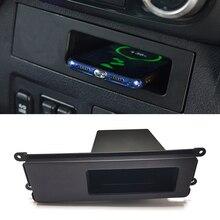 Dla Mitsubishi Pajero 2017 2018 samochodów bezprzewodowa ładowarka QI 15w szybkie ładowanie ładowarka do telefonu pudełko do przechowywania na deskę rozdzielczą etui z funkcją ładowania