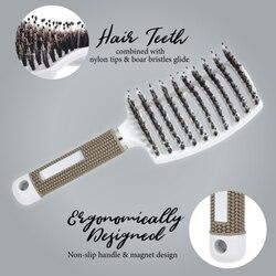 Detangling Nylon Bristle Brush Detangle Hairbrush Women Hair Scalp Massage Comb Brush BFC996