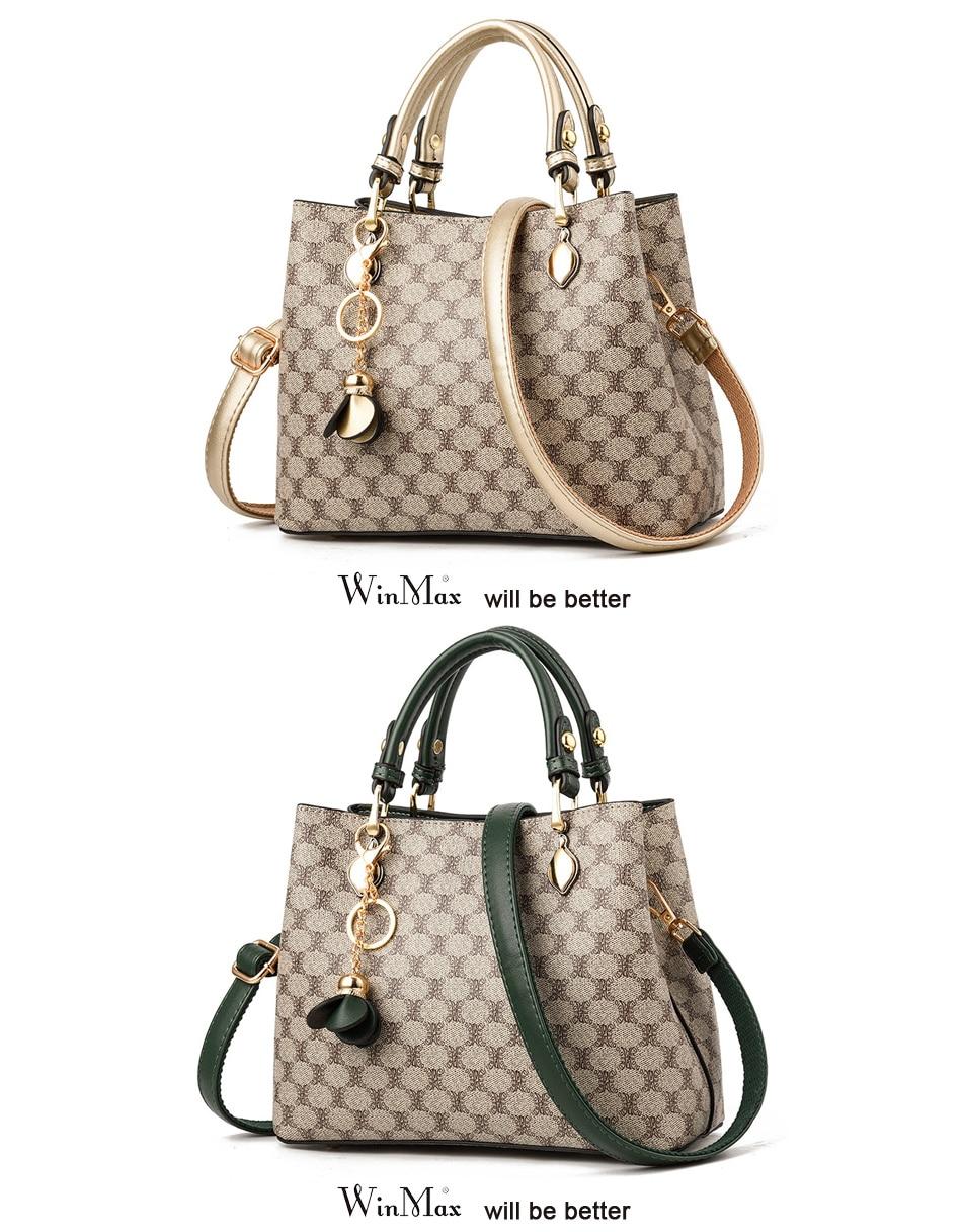Luxury Disigner Handbag Women Leather Handbags Tassel Female Shoulder Bag Print