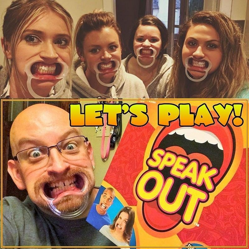 Game Board Hasbro games tell me if you can Family Ridiculous Mouthpiece Challenge Family Friends Party Funny Multiplayer Game