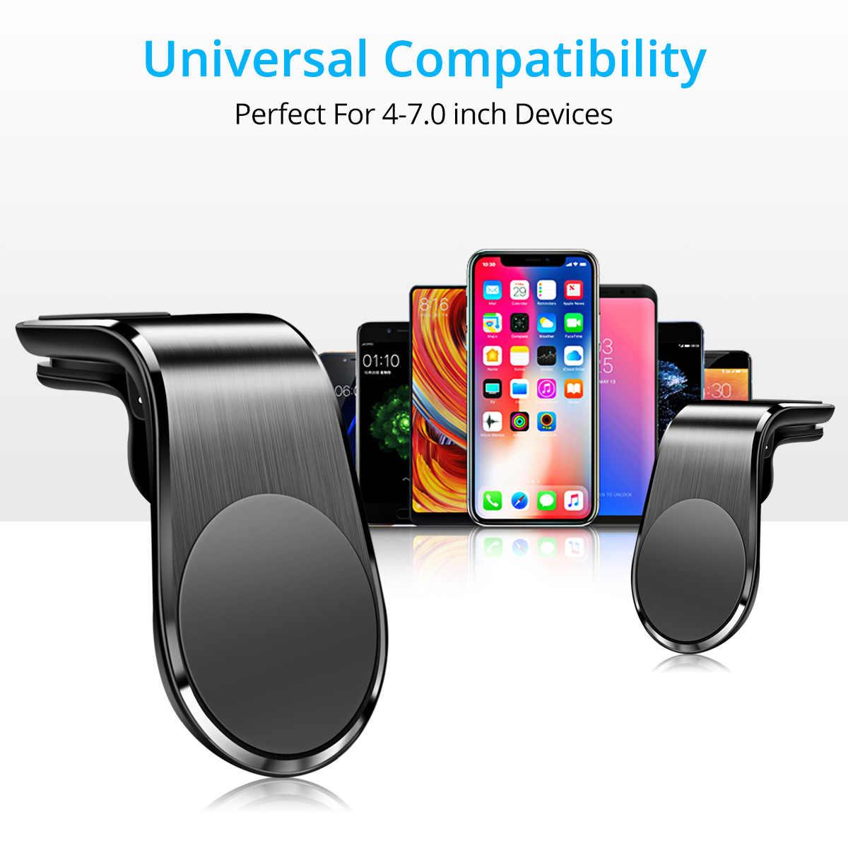 ANMONEผู้ถือบัตรโทรศัพท์แม่เหล็กสำหรับIphone11 Universal Air Outletโลหะแม่เหล็กนำทางวงเล็บหมุน 360 องศา