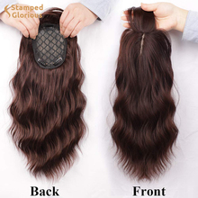 Hair-Topper Hair-Extension Heat-Resistant Brown Wavy Synthetic Women for with Thinning
