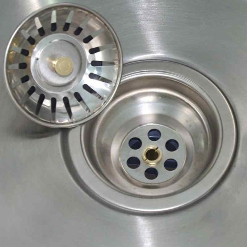 1 adet Dropship paslanmaz çelik evye süzgeci atık fiş lavabo filtresi atık toplayıcı mutfak aksesuarları