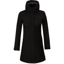 Зимняя женская куртка из флиса флисовая длинная ветровка для