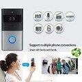 Timbre de vídeo Wifi inalámbrico HD cámara de visión nocturna intercomunicador de dos vías soporte de alarma de movimiento tarjeta TF para android IOS