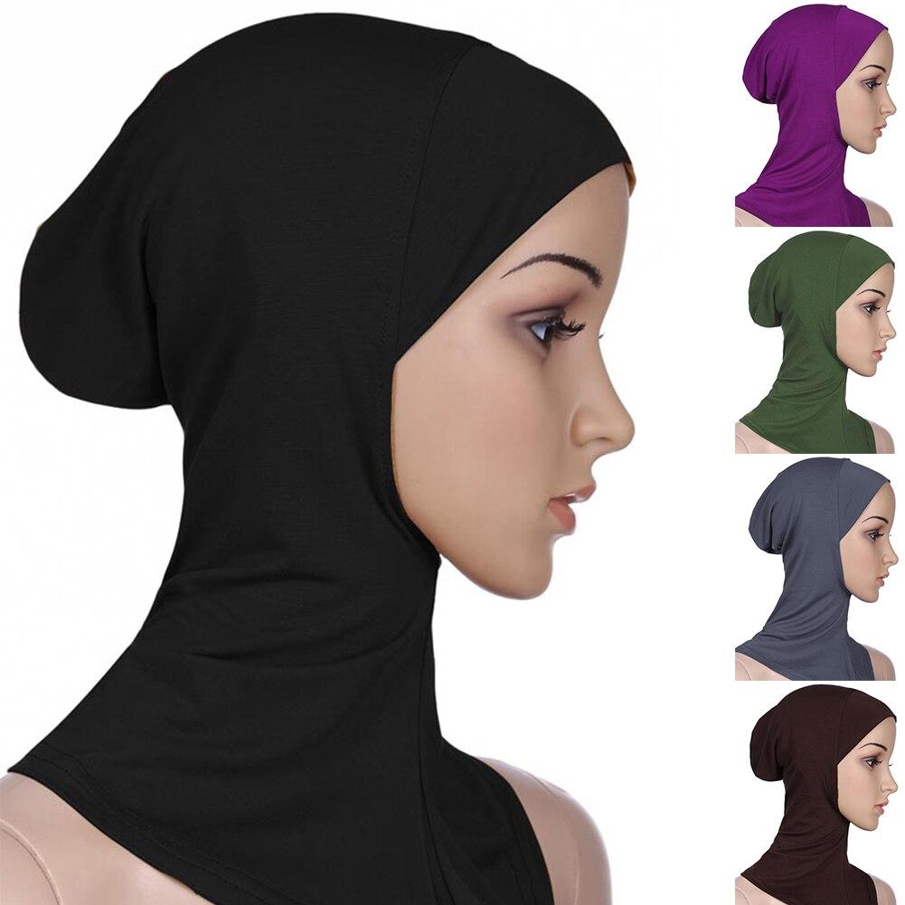 Однотонный женский мусульманский платок под шарф, готов к надеванию мусульманские закрывающие внутренние шапочки под хиджаб мягкие женски...