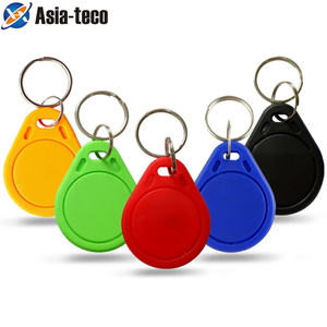 10pcs/lot 13.56MHz IC Keyfobs Tags Access Control IC Key Finder Card Token Attendance Management Keychain(China)