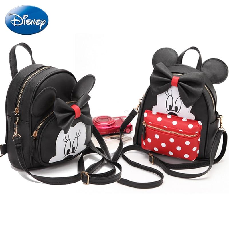 Disney Модные женские рюкзаки школьная сумка для мальчиков с Микки Маусом, детские сумки с героями мультфильмов для девочек, повседневные водонепроницаемые плюшевые рюкзаки из искусственной кожи для путешествий