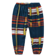New 2-6Y Pants for Boys 2019 Summer Plaid Children Trousers Harem Kids Child Leggins Girls